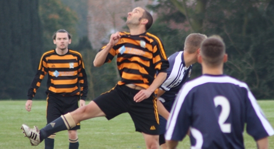Will Gill in action against Saxmundham Sports